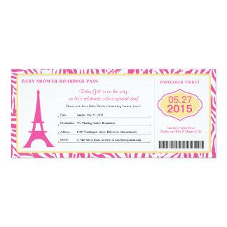 Documento de embarque de París de la fiesta de Invitación 10,1 X 23,5 Cm