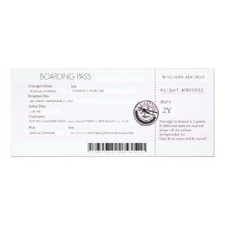 Documento de embarque invitación 10,1 x 23,5 cm