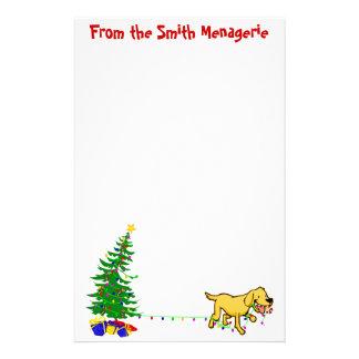 Doggone papel con membrete del navidad del navidad