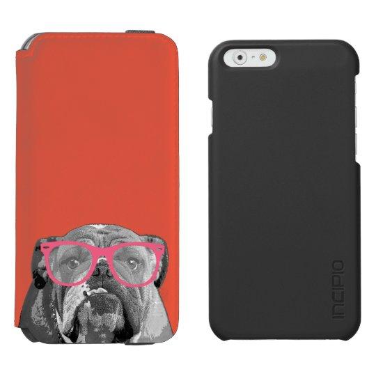 Dogo con la caja divertida linda del teléfono de funda cartera para iPhone 6 watson