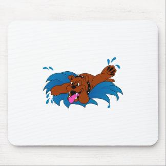 Dogo de la natación alfombrilla de ratón