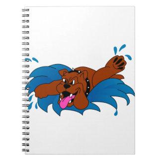 Dogo de la natación cuaderno