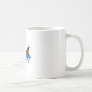 Dogo de la natación taza básica blanca