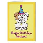 Dogo del feliz cumpleaños: Sobrino Tarjeta