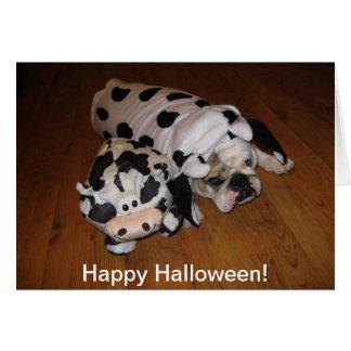 Dogo del feliz Halloween Tarjeta De Felicitación