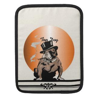 Dogo del vintage de la manga del perro superior funda para iPads