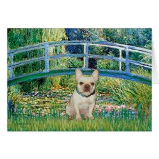 Dogo francés 1 - puente tarjeta de felicitación