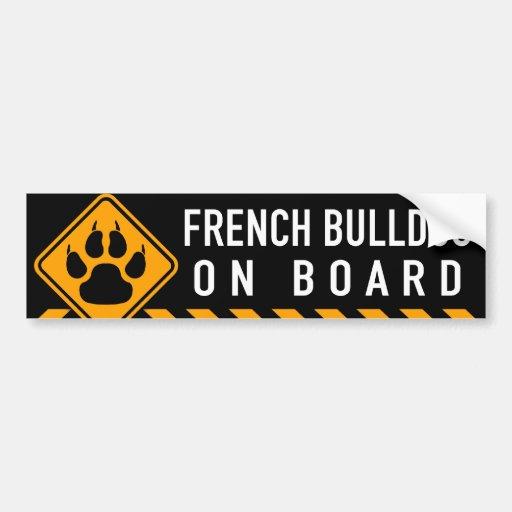 Dogo francés a bordo pegatina de parachoque
