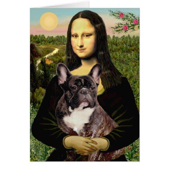Dogo francés (br10) - Mona Lisa Tarjeta De Felicitación