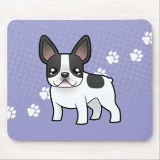 Dogo francés del dibujo animado alfombrilla de ratón