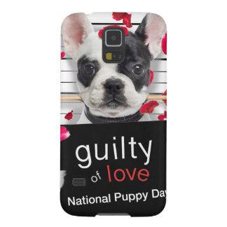 Dogo francés del el día de San Valentín Funda Para Galaxy S5