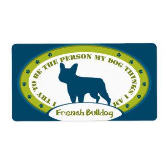 Dogo francés etiquetas de envío