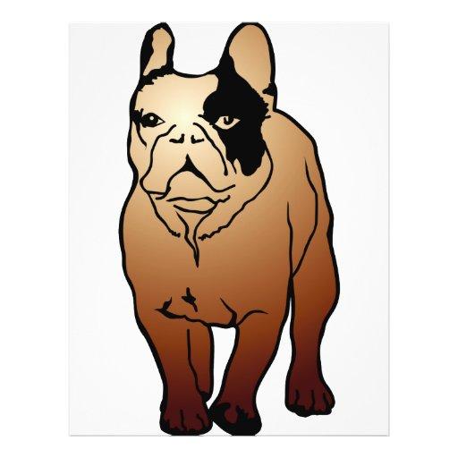 Dogo francés tarjetas informativas