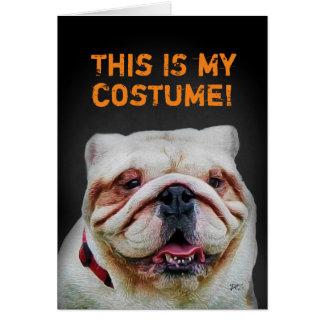 Dogo lindo divertido Halloween Tarjeta De Felicitación