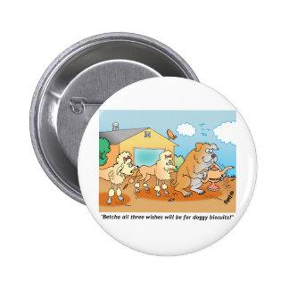 Dogo - regalos del dibujo animado del caniche chapa redonda 5 cm