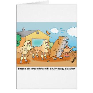 Dogo - regalos del dibujo animado del caniche tarjeta de felicitación