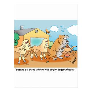 Dogo - regalos del dibujo animado del caniche postal