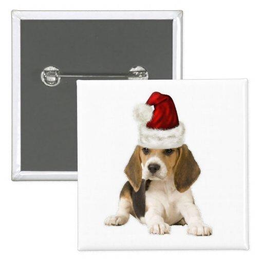 Dogs~Original Ditzy Button~Beagle~Christmas Pin