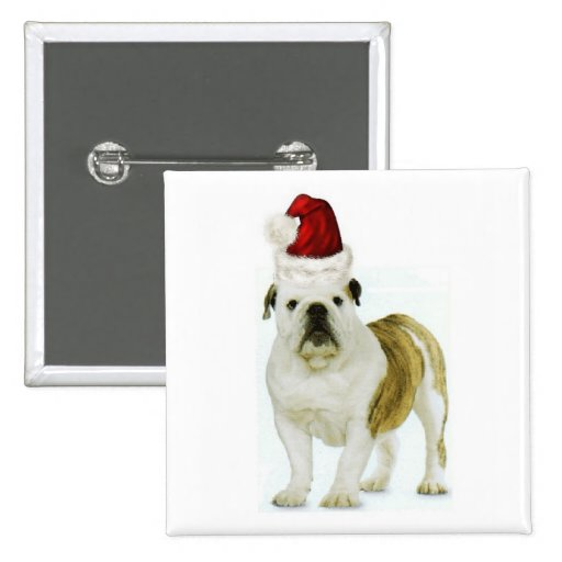 Dogs~Original Ditzy Button~Bulldog~Christmas Pins