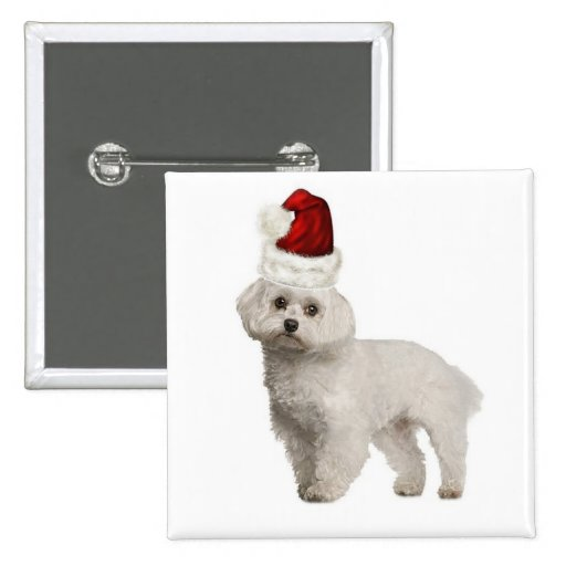 Dogs~Original Ditzy Pin~Christmas~Maltese