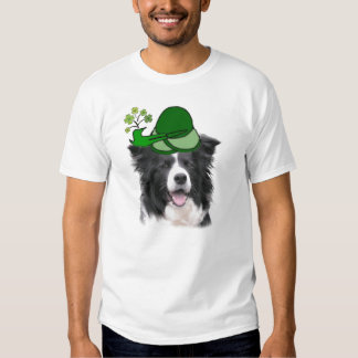 Dogs~Original Ditzy Tee~Border Collie~St. Pat Camisetas