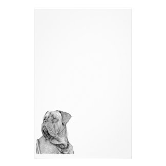 Dogue de Bordeaux inmóvil Papeleria De Diseño