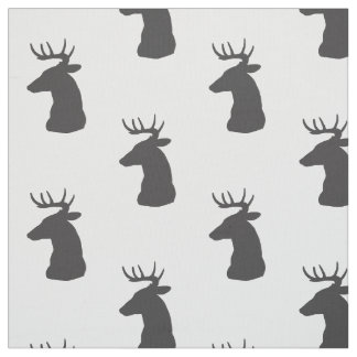 Dólar de la silueta de los ciervos con las astas tela