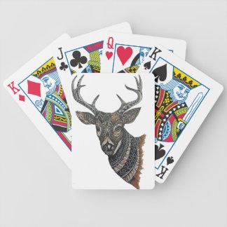 Dólar de los ciervos con diseño complejo baraja de cartas bicycle