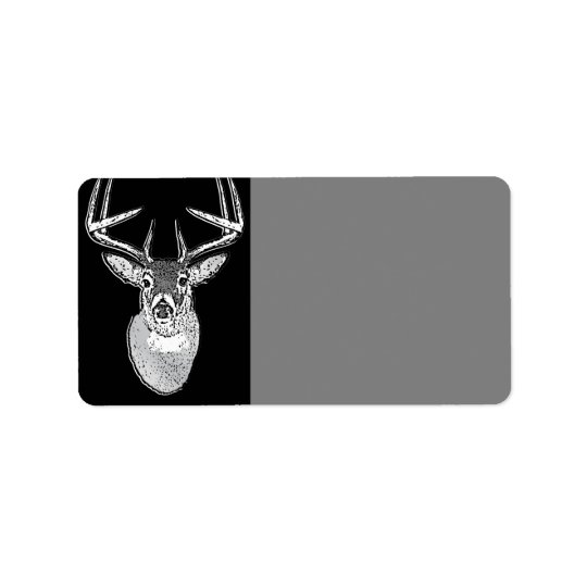Dólar en ciervos negros de la cola blanca del etiquetas de dirección