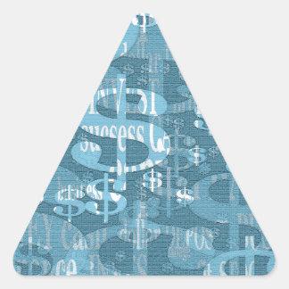 Dólar Pegatina Triangular