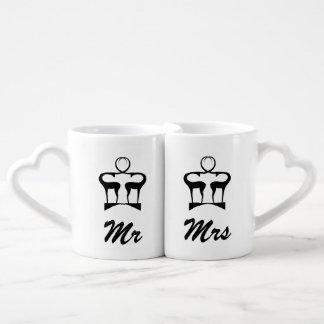 Dólar y gama set de tazas de café