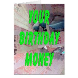 Dólares canadienses de dinero del cumpleaños felicitación