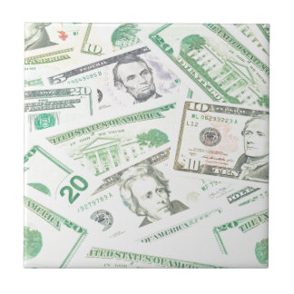 Dólares de EE. UU. de fondo Azulejo Cuadrado Pequeño