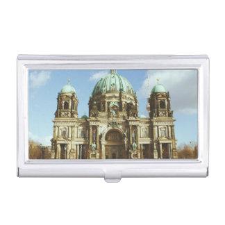 Dom evangélicos alemanes del berlinés de la cajas de tarjetas de negocios