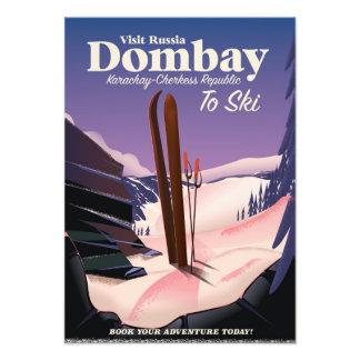 Dombay, poster del esquí de la república de arte fotográfico