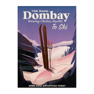 Dombay, poster del esquí de la república de impresión acrílica