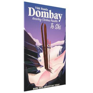 Dombay, poster del esquí de la república de impresión en lienzo