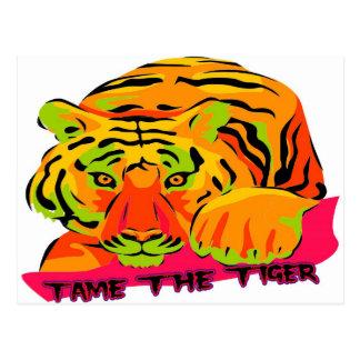 Domestique el tigre postal