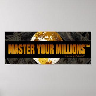 Domine su poster del papel del valor de millones póster