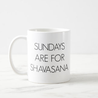 Domingos están para la taza de Shavasana