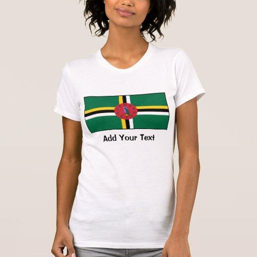 Dominica - bandera dominicana camisetas