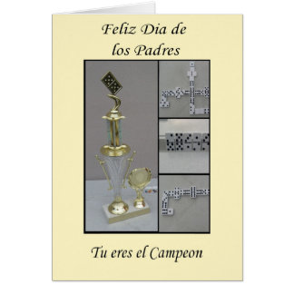 Dominoe de Feliz dia de los padres Tarjeta De Felicitación