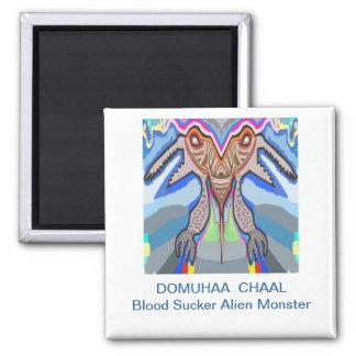 DOMUHAA CHAAL - Monstruo del extranjero del lechón Imán Cuadrado