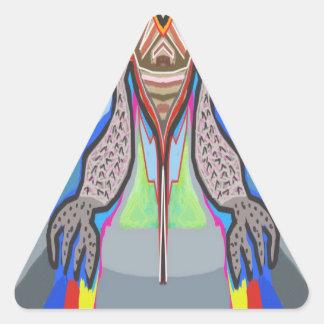 DOMUHAA CHAAL - Monstruo del extranjero del lechón Pegatina Triangular