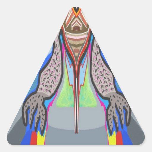 DOMUHAA CHAAL - Monstruo del extranjero del lechón Calcomania Triangulo