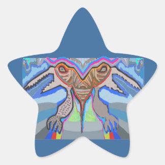 DOMUHAA CHAAL - Monstruo del extranjero del lechón Pegatina En Forma De Estrella