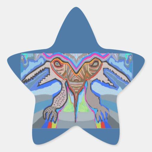 DOMUHAA CHAAL - Monstruo del extranjero del lechón Calcomanía Forma De Estrella Personalizadas