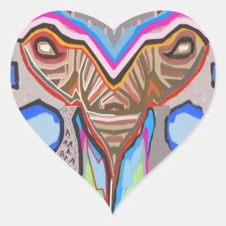 DOMUHAA CHAAL - Monstruo del extranjero del lechón Pegatina En Forma De Corazón