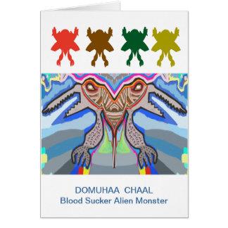 DOMUHAA CHAAL - Monstruo del extranjero del lechón Tarjeta De Felicitación