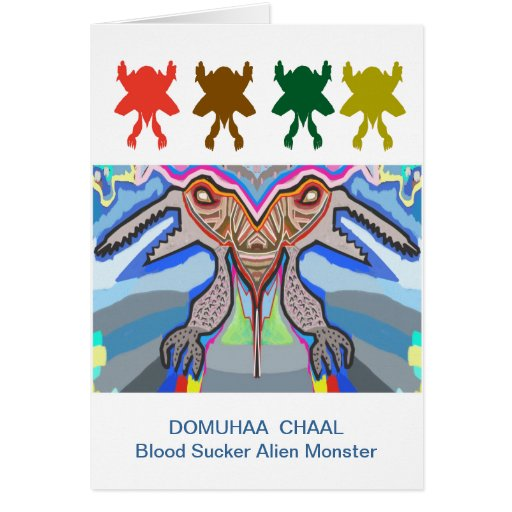 DOMUHAA CHAAL - Monstruo del extranjero del lechón Tarjeta